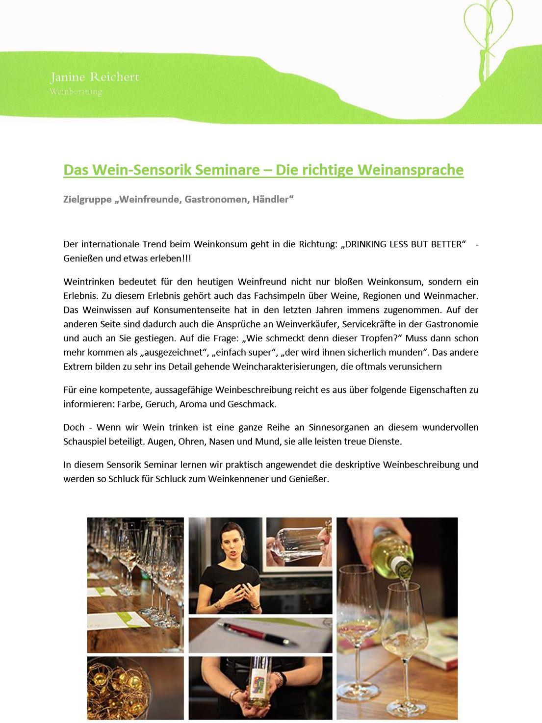 Wein-Sensorik-Seminar