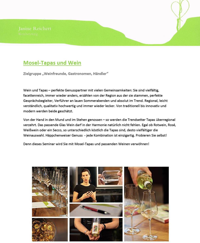 Mosel-Tapas und Wein